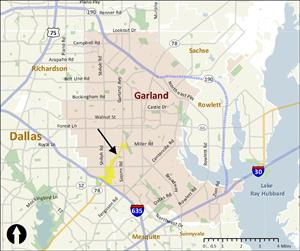 South Garland Avenue Map