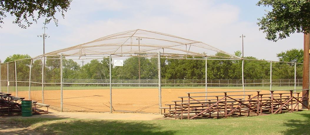 Baseball field with bleachers at Huff Park